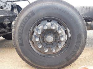 Lốp trước xe tải hyundai 4 chân hd320 19 tấn
