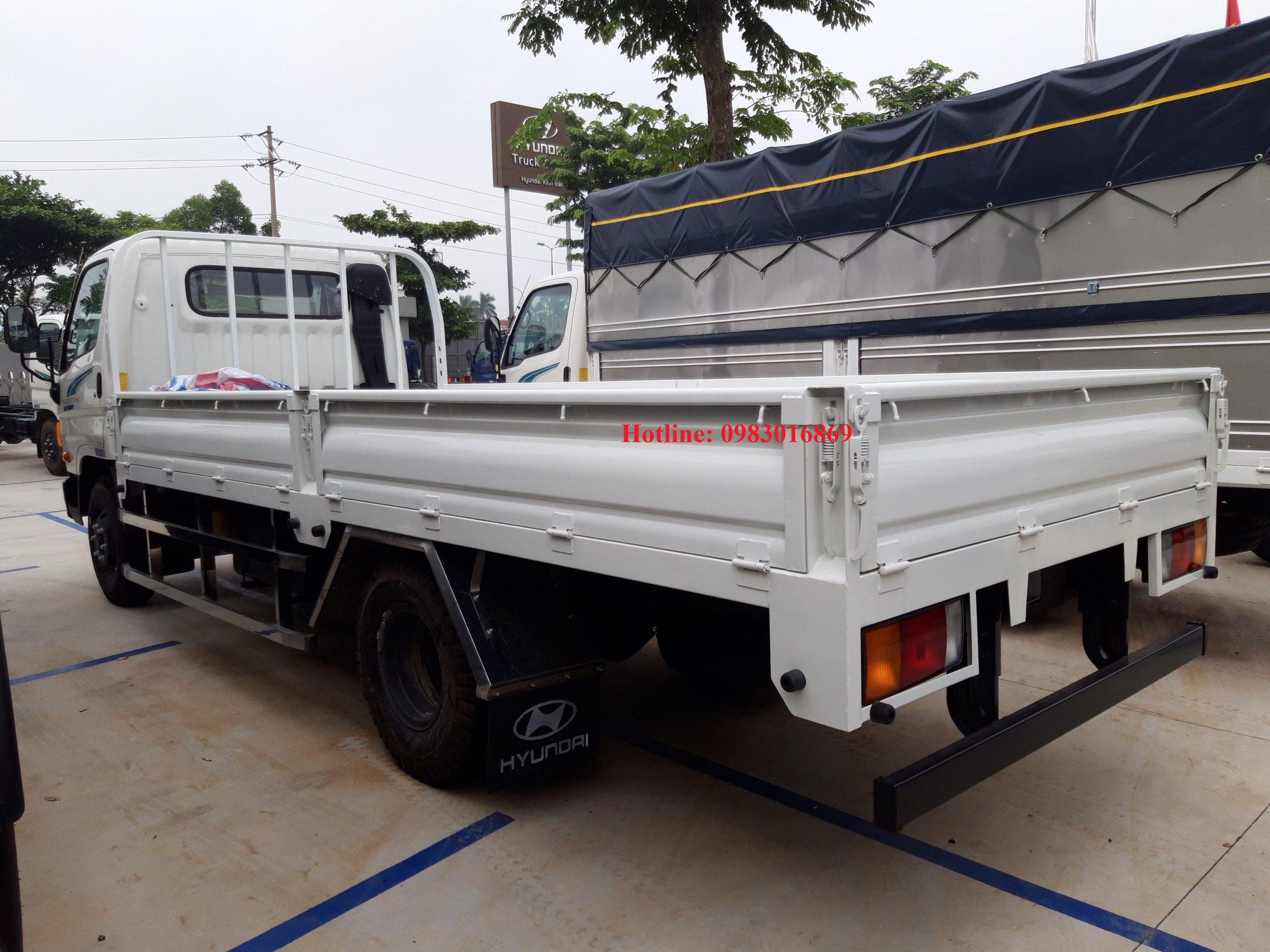 Xe tải hyundai 110sp 7 tấn thùng lửng